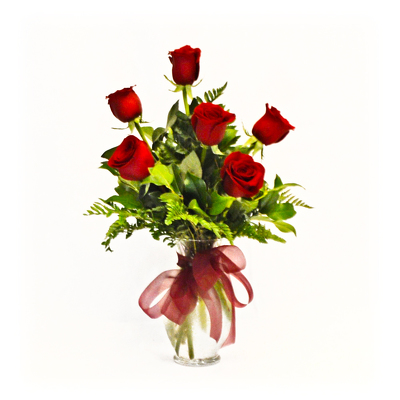 Half Dozen Red Roses - Classic from Casey's Garden Shop & Florist, Bloomington Flower Shop