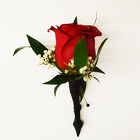 Classic Red Rose Boutonniere from Casey's Garden Shop & Florist, Bloomington Flower Shop