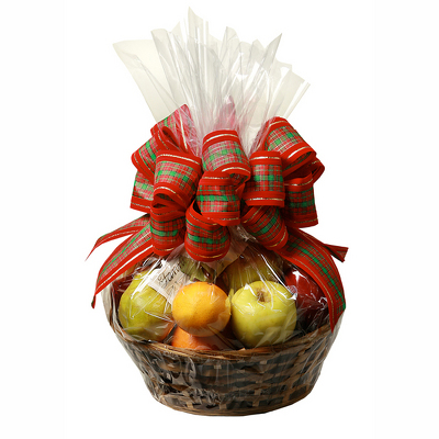 Traditional Christmas Fruit Basket from Casey's Garden Shop & Florist, Bloomington Flower Shop