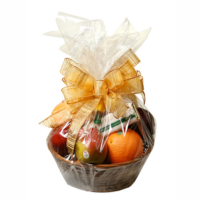 Deluxe Christmas Fruit Basket from Casey's Garden Shop & Florist, Bloomington Flower Shop