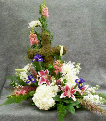 Sympathy Cross from Casey's Garden Shop & Florist, Bloomington Flower Shop